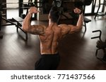 healthy young tattoo man... | Shutterstock . vector #771437566