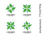 abstract organic shape logo...   Shutterstock .eps vector #771437956