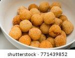 deep fried cheese balls for... | Shutterstock . vector #771439852