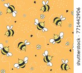 cartoon doodle cute bees vector ... | Shutterstock .eps vector #771442906