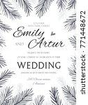 winter wedding invite ... | Shutterstock .eps vector #771448672