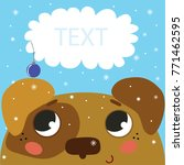cute christmas card design with ... | Shutterstock .eps vector #771462595