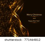Abstract Golden Background Wit...