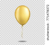 realistic transparent balloon ... | Shutterstock .eps vector #771478372
