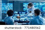 in the security control room... | Shutterstock . vector #771480562