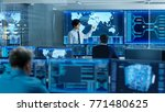in the system control room... | Shutterstock . vector #771480625