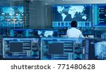 in the system control room... | Shutterstock . vector #771480628