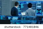in the system control room it... | Shutterstock . vector #771481846