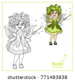 cute girl in the costume of a... | Shutterstock .eps vector #771483838