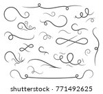 abstract confusing twisted... | Shutterstock .eps vector #771492625