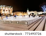 a night ice skating scene from... | Shutterstock . vector #771493726