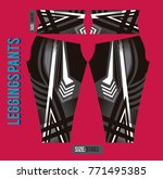 leggings pants fashion vector... | Shutterstock .eps vector #771495385