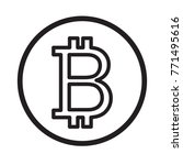 bitcoin cryptocurrency icon.... | Shutterstock .eps vector #771495616