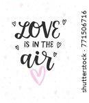 happy valentine's day card ... | Shutterstock .eps vector #771506716