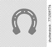 horseshoe vector icon eps 10. | Shutterstock .eps vector #771509776