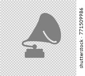 gramophone vector icon eps 10. | Shutterstock .eps vector #771509986