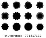 sunburst vector badges | Shutterstock .eps vector #771517132