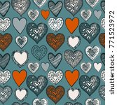 saint valentine day pattern... | Shutterstock .eps vector #771523972