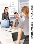 young businesspeople having... | Shutterstock . vector #77152558