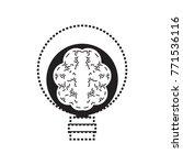 human brain in lightbulb | Shutterstock .eps vector #771536116