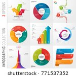 infographic collection of 3... | Shutterstock .eps vector #771537352