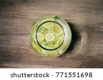 homemade refreshing elder... | Shutterstock . vector #771551698