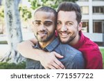 Happy Gay Couple Spending Time...