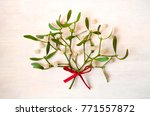 christmas mistletoe decoration... | Shutterstock . vector #771557872