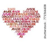 love typography. avant garde... | Shutterstock .eps vector #771566608