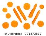 carrot isolated on white... | Shutterstock . vector #771573832