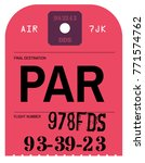 vintage luggage tag. real... | Shutterstock . vector #771574762