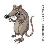 monstrous rat cartoon image.... | Shutterstock . vector #771574828