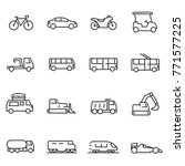 ground transportation icons set ... | Shutterstock .eps vector #771577225
