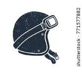 hand drawn racing helmet... | Shutterstock .eps vector #771577882