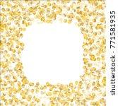 golden frame of confetti... | Shutterstock .eps vector #771581935