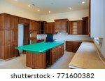 blind corner cabinet  island... | Shutterstock . vector #771600382
