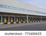 loading dock for trucks with... | Shutterstock . vector #771600625