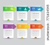 infographics banners  vector... | Shutterstock .eps vector #771614545