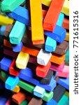 pastel chalk background  | Shutterstock . vector #771615316
