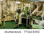 inside engine room on big ship | Shutterstock . vector #771615352