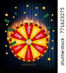 wheel of fortune  lucky icon... | Shutterstock .eps vector #771623275