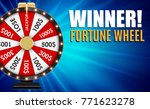 wheel of fortune  lucky icon...   Shutterstock .eps vector #771623278