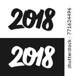 happy new year 2018 greeting... | Shutterstock . vector #771624496
