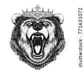 vector black and white king... | Shutterstock .eps vector #771631072