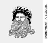 classical sculpture. vector... | Shutterstock .eps vector #771632086