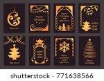 set of beautiful christmas...   Shutterstock .eps vector #771638566