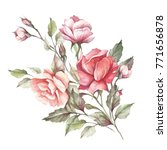 the image of a rose.hand draw... | Shutterstock . vector #771656878