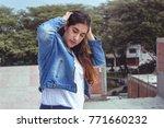 fashion woman.    Shutterstock . vector #771660232