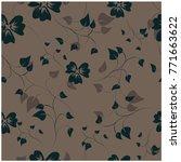 vector seamless pattern flowers ... | Shutterstock .eps vector #771663622