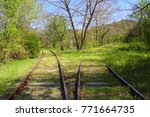abandoned railroad tracks | Shutterstock . vector #771664735